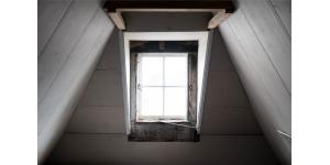 Fenêtre à l'étage d'une maison