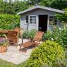chalet en bois jardin
