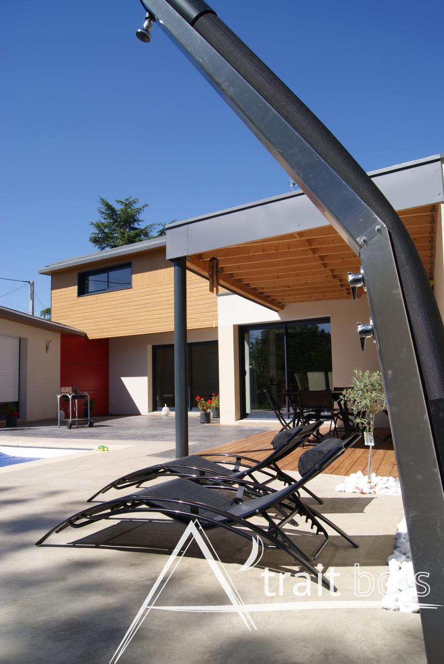 A 39 trait bois charpente en bois construction de maison bois angers 49 for Construction bois 49